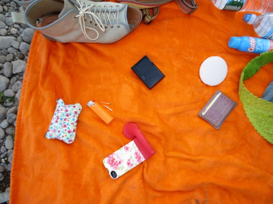 Phone, wallet, lighter, birth control