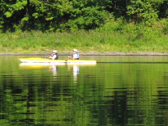 Canoe on river