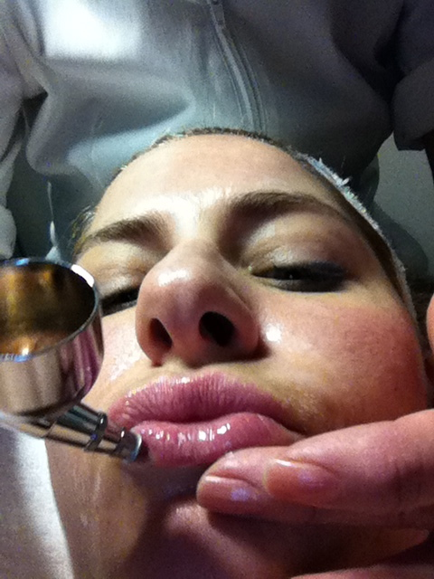 Spa lip treatment