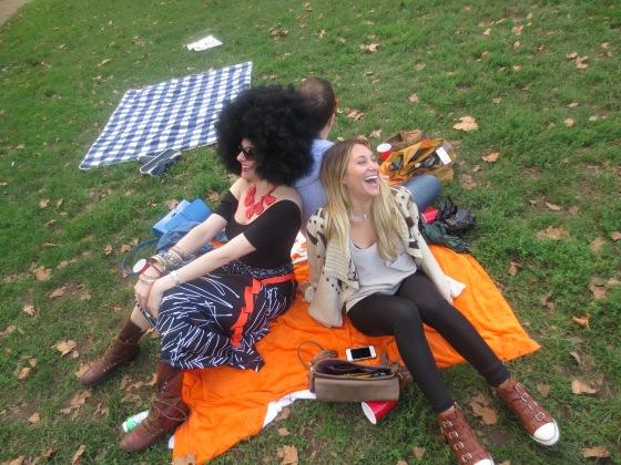 Friends at park