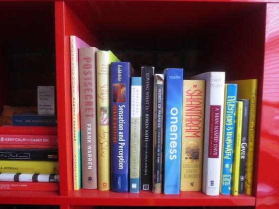 Red Spiritual Bookshelf