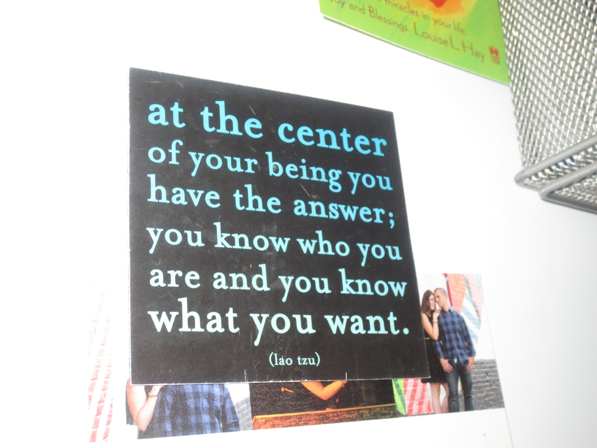the center of your being
