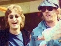 John Lennon with Harry Nilsson, 1974