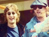 John Lennon with Harry Nilsson, 1974
