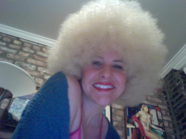Michelle Joni blonde afro