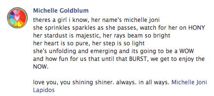 Michelle Goldblum Poem