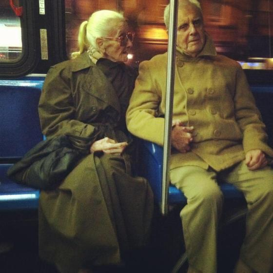 old people on bus