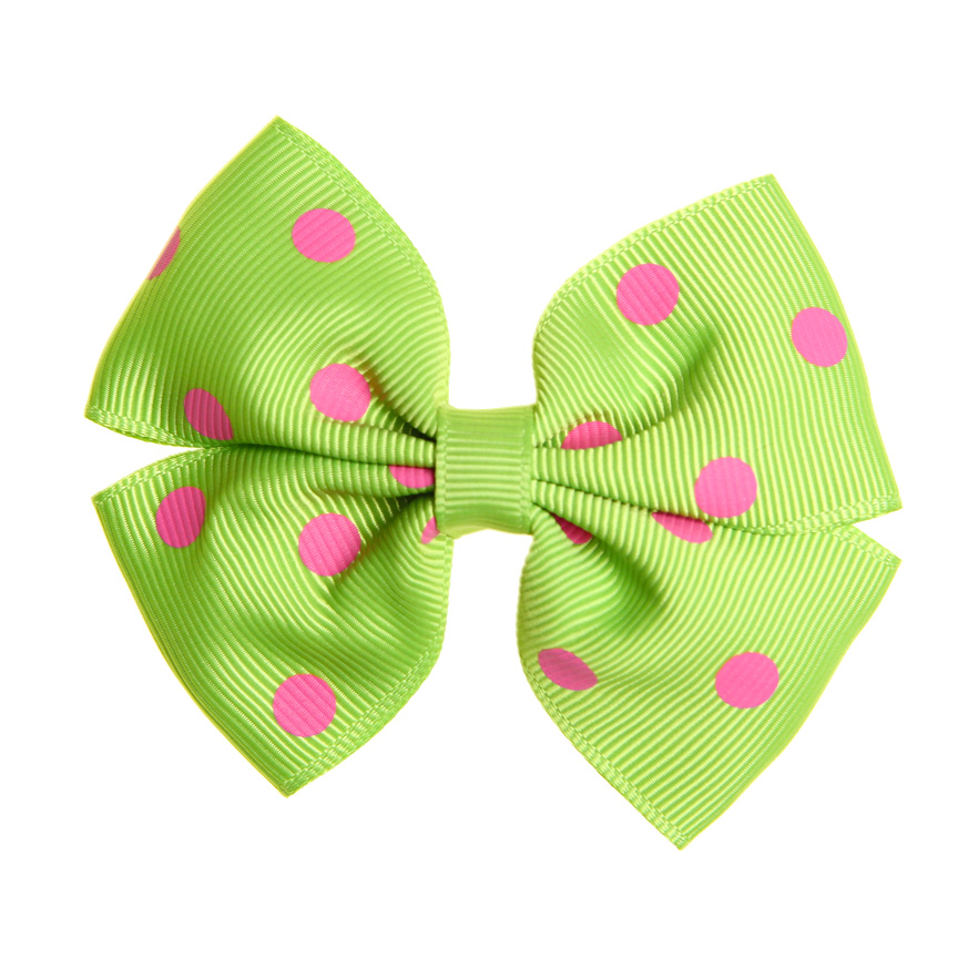 Pink and green Hair bow