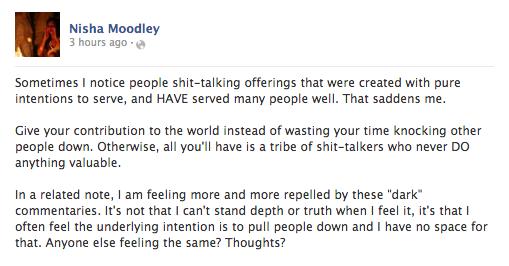 Nisha Moodley Status